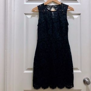 Banana Republic Lace 00P Midnight Blue Party Dress
